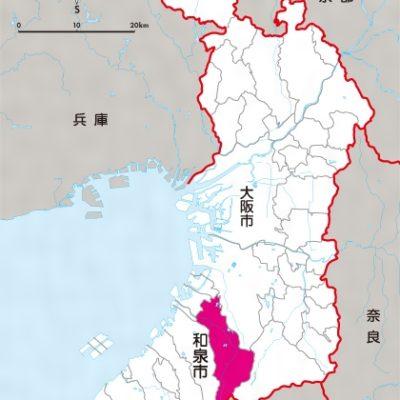 大阪府和泉市の地図