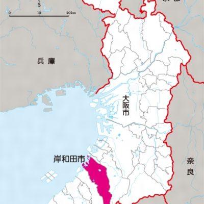 大阪府岸和田市の地図