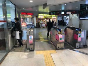南海高野線堺東駅改札口