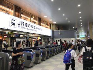 JR天王寺駅の中央改札口(小)