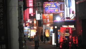 大阪の難波のホテル街