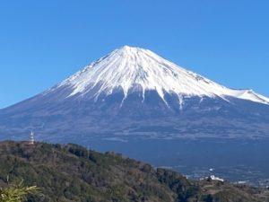2020年お正月の富士山